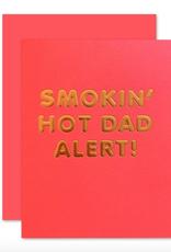 hot dad alert card