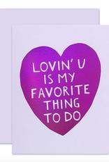 lovin you card