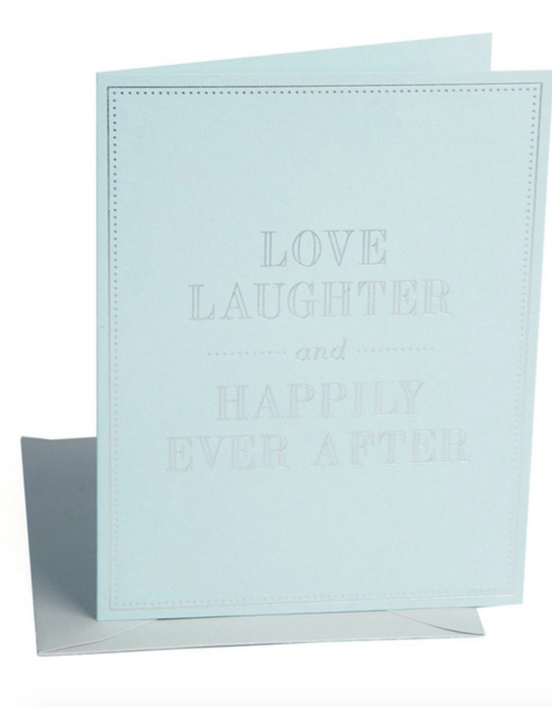 love laughter wedding card