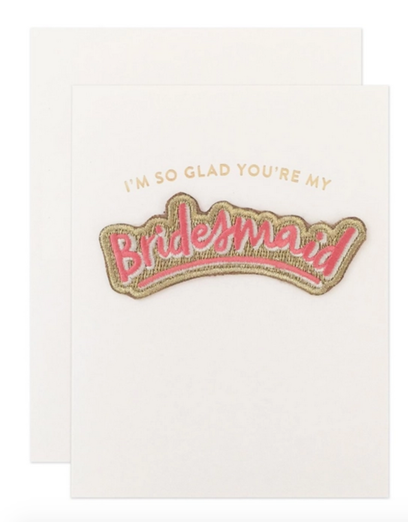 bridesmaid patch card