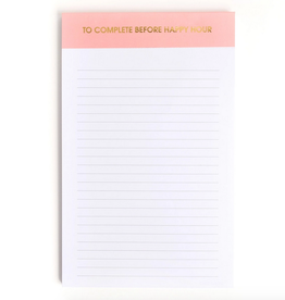 chez gagne to do before happy hour notepad
