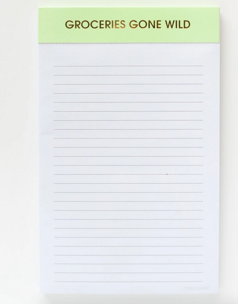 chez gagne groceries gone wild notepad
