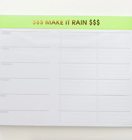 chez gagne make it rain weekly planner