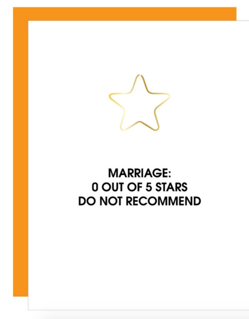 chez gagne 0 star marriage card