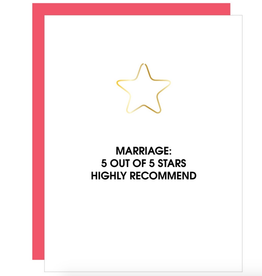 chez gagne 5 star marriage card