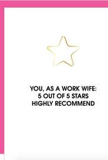 chez gagne 5 star work wife card