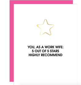 chez gagne 5 star work wife card