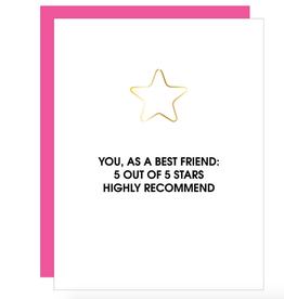 chez gagne 5 star best friend card