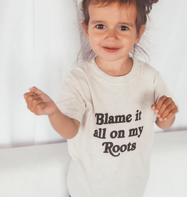 kids blame it all on my roots tee