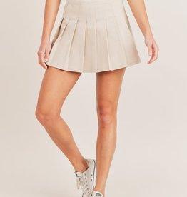 pleated tennis mini skirt