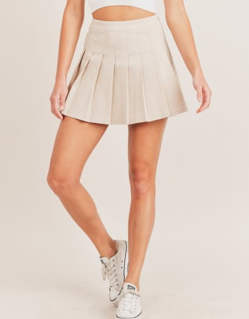 Mable pleated tennis mini skirt