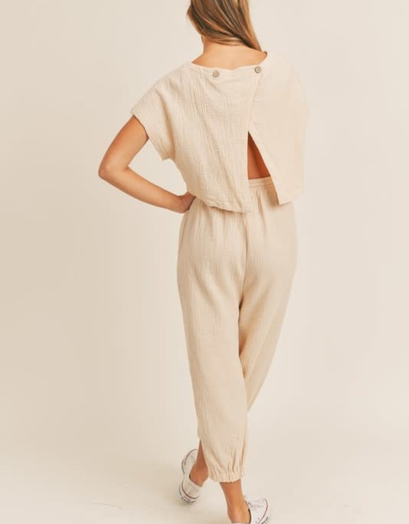 Mable ella casual open back jumpsuit