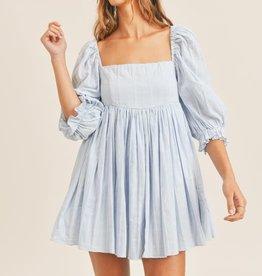 puff sleeve babydoll dress