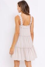 hellen ruffle tiered mini dress
