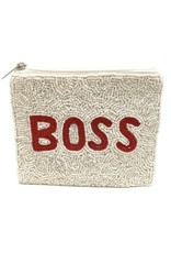 boss beaded coin pouch