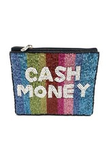 cash money beaded coin pouch