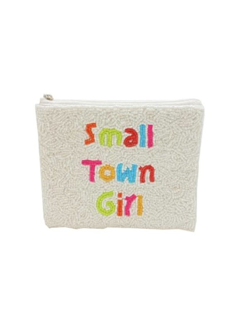 small town girl beaded coin pouch