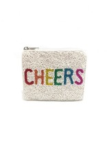 cheers beaded coin pouch