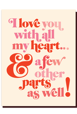 offensive and delightful love with all my parts card