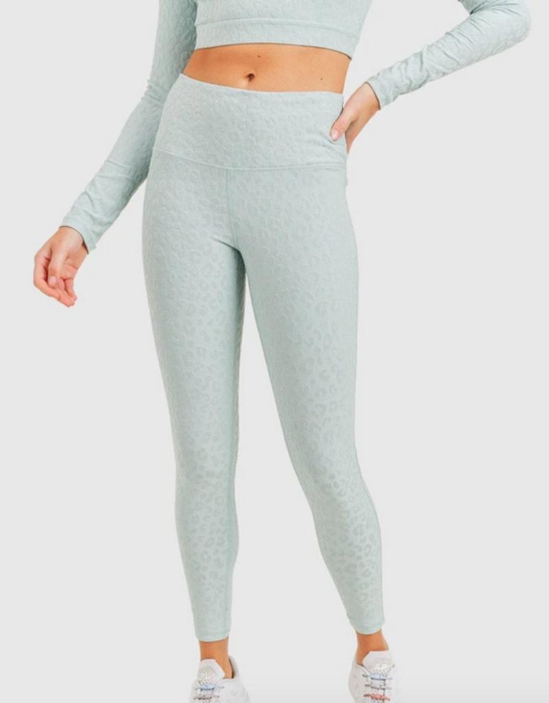 textured jaquard highwaist legging