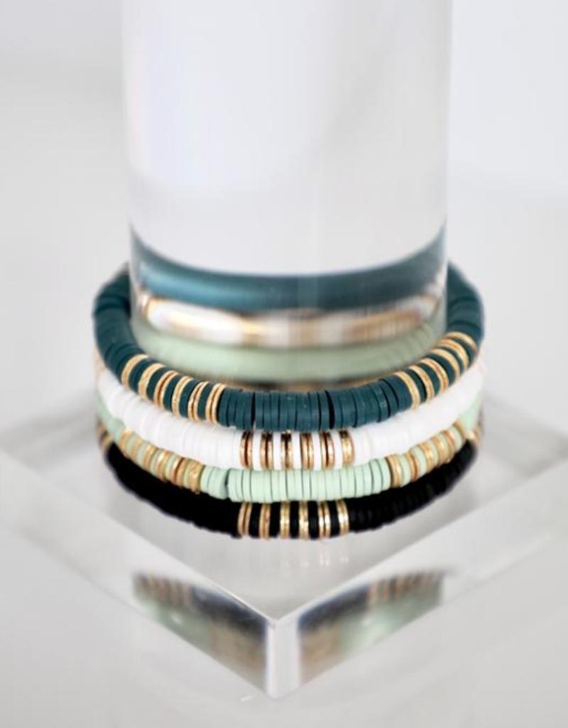 bddesignsandco linear gold disc bracelet