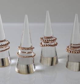bddesignsandco rose gold beaded ring