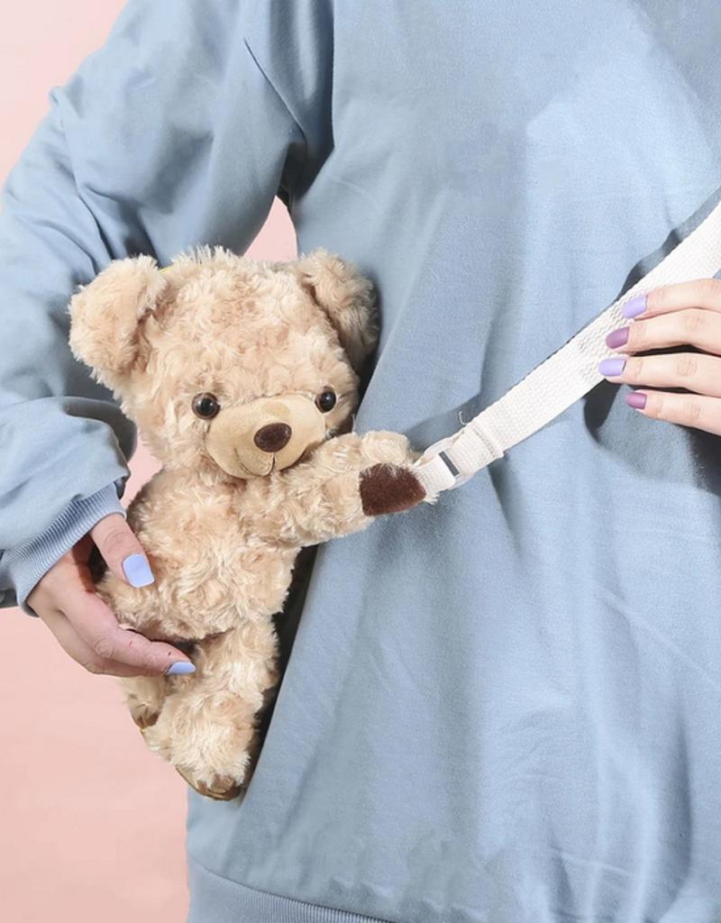 plushie teddy bear crossbody