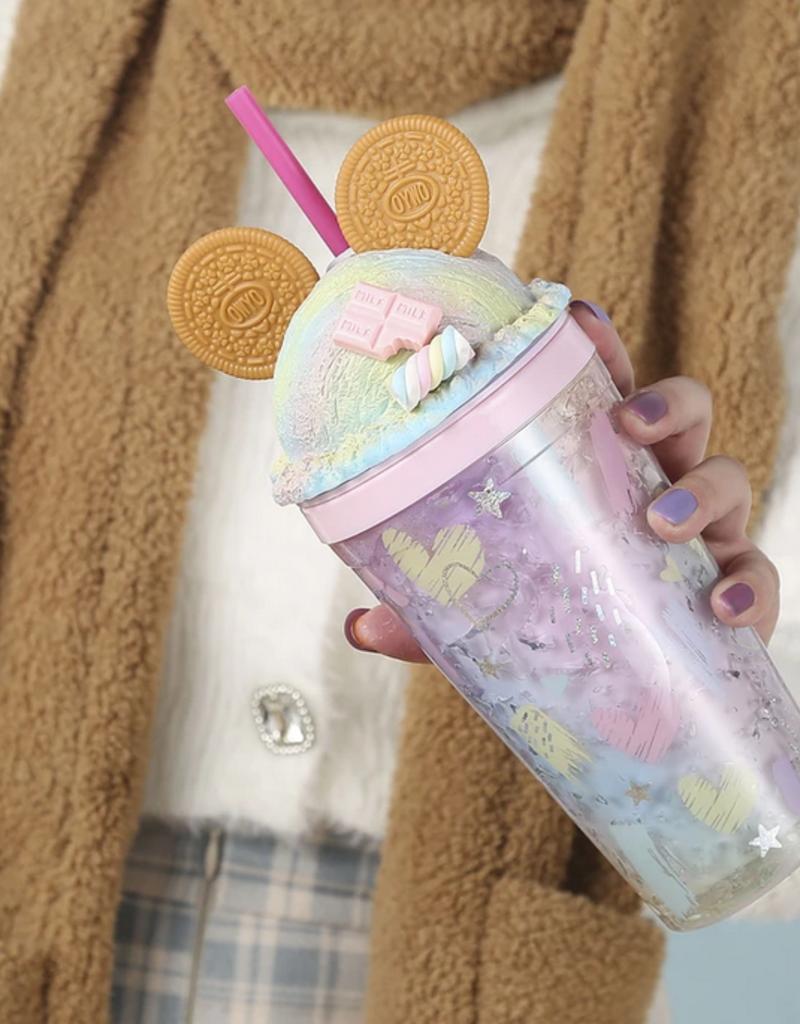 cookie mouse ear tumbler - blue