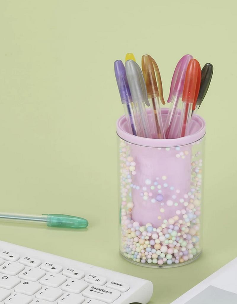 candy dots pen holder