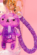 bewaltz glitter bear keychain