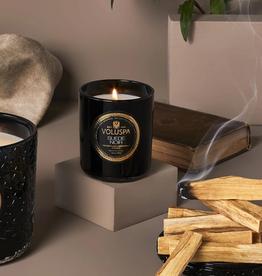voluspa suede noir classic candle 9.5oz