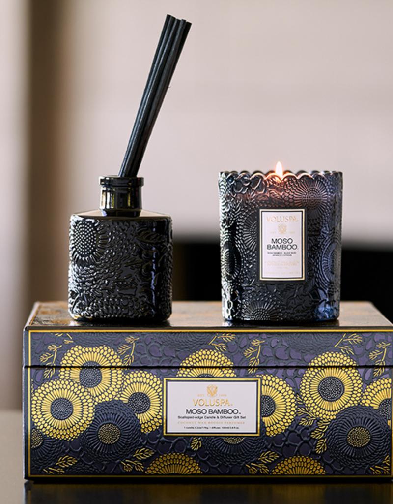 voluspa moso bamboo candle & fragrance diffuser gift set