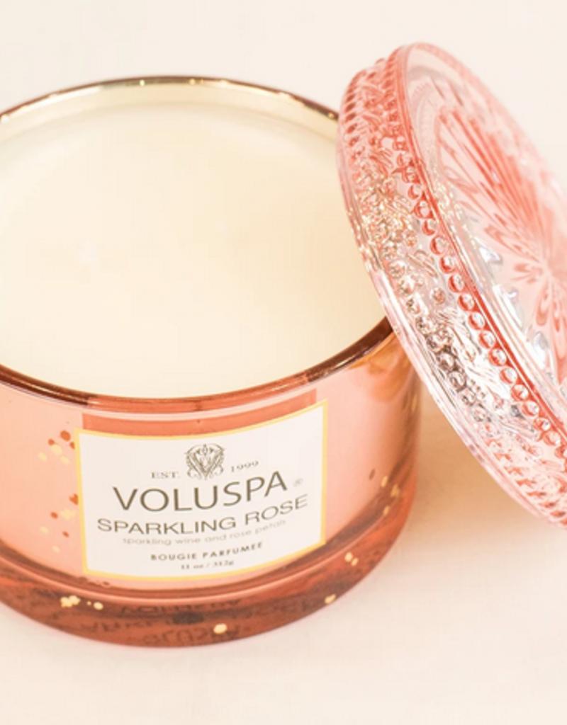 voluspa sparkling rose corta maison candle 11oz