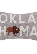 oklahoma bison pillow