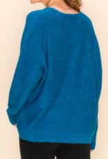 textured v neck sweater FINAL SALE