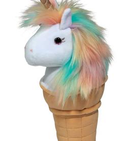 unicorn ice cream cone plushie