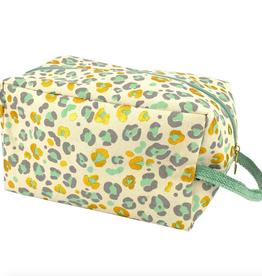 love vivid leopard canvas toiletry bag