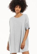 z supply delta slub t shirt dress