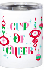 cup of cheer stainless steel tumbler 12oz