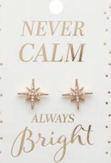 never calm earrings