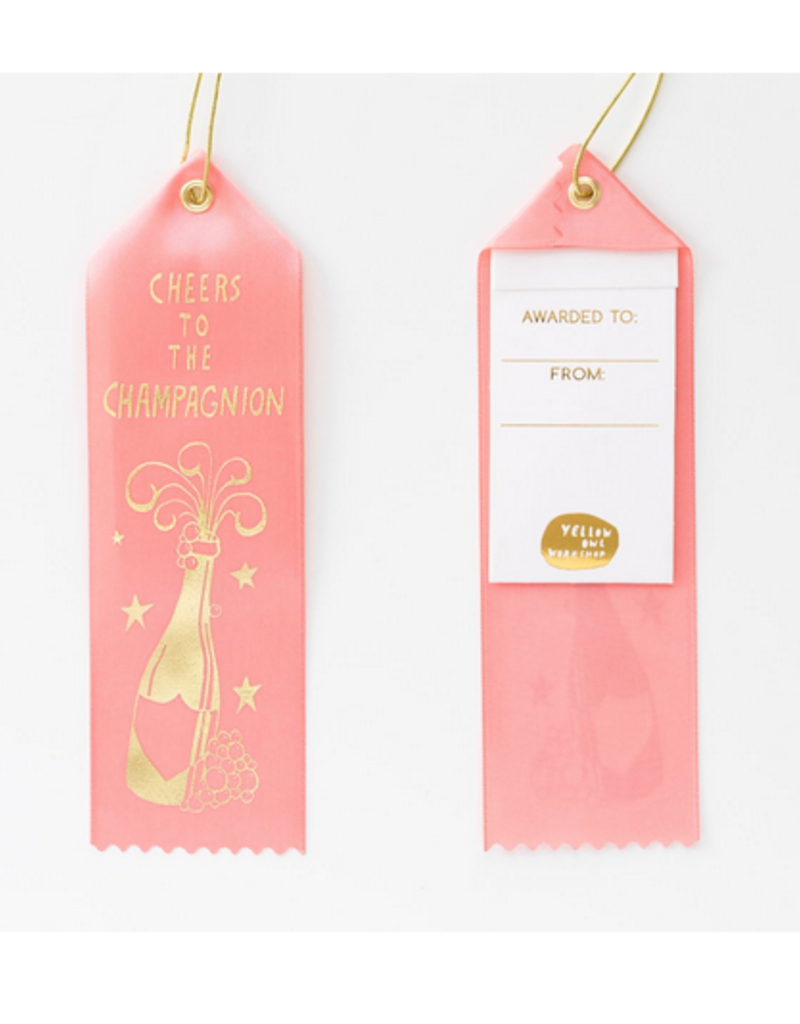 cheers to the chamagnion award ribbon FINAL SALE