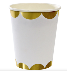 meri meri gold scalloped party cups (set of 8) final sale