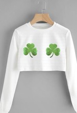 R+R final sale shake your shamrocks crop sweatshirt final sale