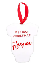 babys first christmas ornament FINAL SALE