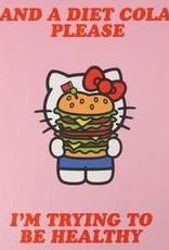 diet cola hello kitty card FINAL SALE
