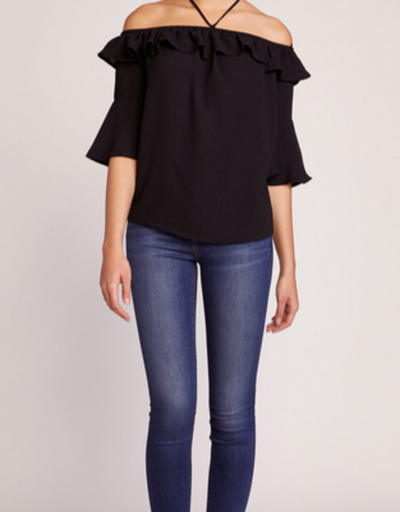 haltered state ruffle top FINAL SALE