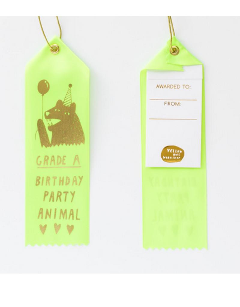 grade A party animal award ribbon final sale