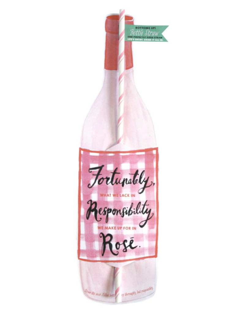 fortunate bottle straw card final sale