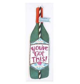 you've got this wine straw card final sale