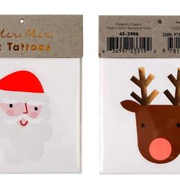 meri meri santa & reindeer tattoos final sale